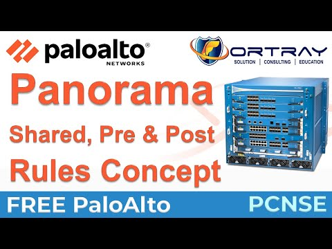 Palo Alto Firewall, Understanding Panorama Firewall Policies/Rule PCNSE