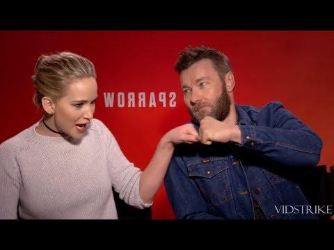 Jennifer Lawrence Making Fun of 'Red Sparrow' Co-Star Joel Edgerton (видео)