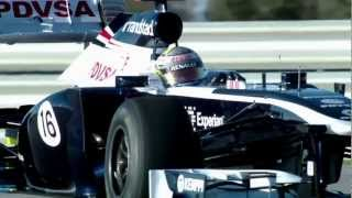 2013 Williams FW35 F1 Race Car - Launch