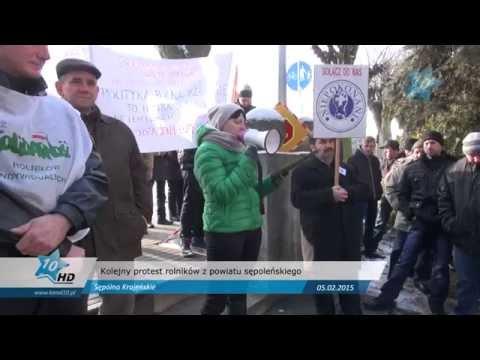 Kolejny protest rolników z powiatu sępoleńskiego, 05.02.2014 r.