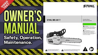 9. Owner's Manual: STIHL MS 201 T Chain Saw