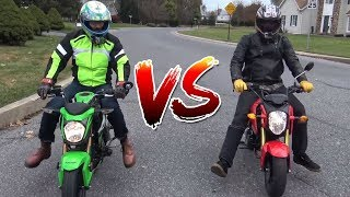 6. Honda Grom VS Kawasaki 125 Pro