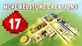 17 AMAZING MCPE REDSTONE CREATIONS!!!  || Minecraft Redstone Creations