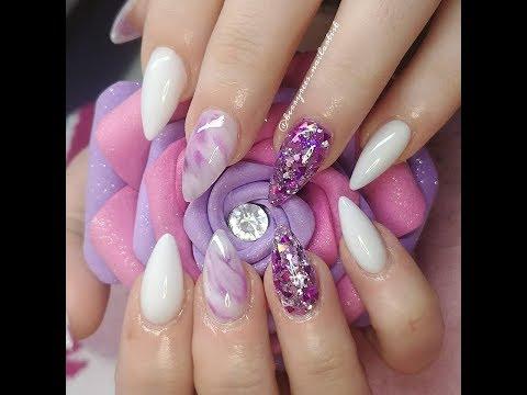 Easy Marble acrylic nails