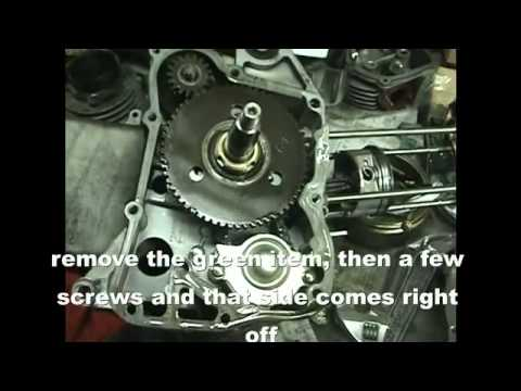 How to split the crankcase and install a crankshaft on a 150cc GY6 scooter