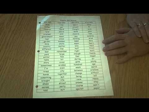 Fry Sight Word List