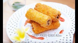 Chef Sandra Djohan membuat Deep Fried Sosis Roll