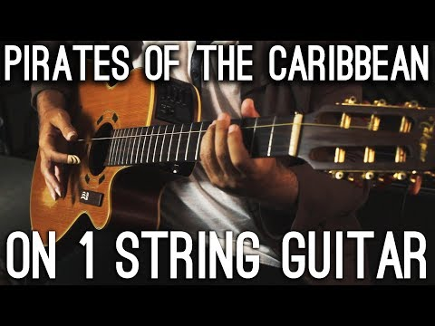 Pirates Of The Caribbean Theme On 1 STRING guitar! - Thời lượng: 92 giây.