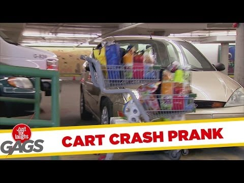 Shopping Cart Car Crash Prank