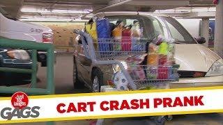 Shopping Cart Car Crash Prank