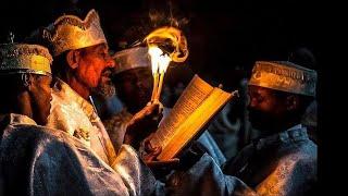 Ethiopian young Performing Mezmur
