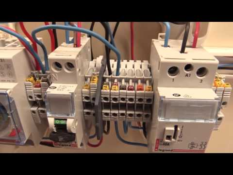 Cablage maquette thermostat avec horloge