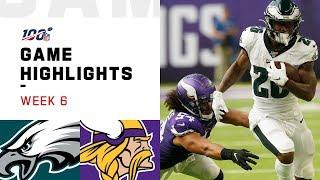 Eagles vs. Vikings Week 6 Highlights   NFL 2019