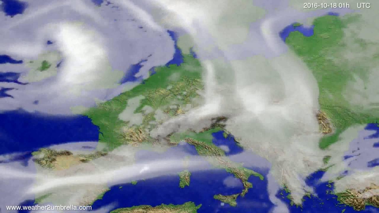 Cloud forecast Europe 2016-10-15