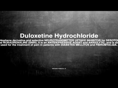 Medical vocabulary: What does Duloxetine Hydrochloride mean