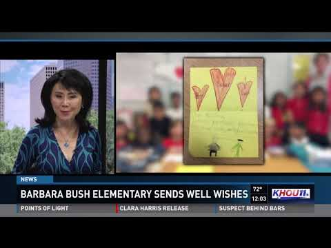 Barbara Bush Elementary send well wishes to former First Lady