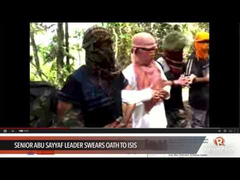 Video Senior Abu Sayyaf leader swears oath to ISIS download in MP3, 3GP, MP4, WEBM, AVI, FLV January 2017
