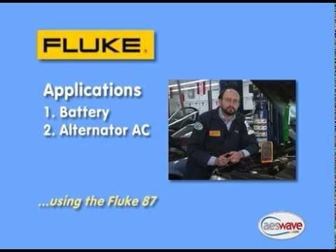 Fluke DMM  Battery Voltage & AC