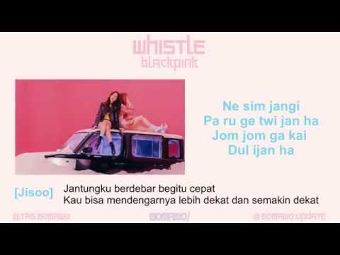 Easy Lyric BLACKPINK - Whistle by GOMAWO [Indosub]