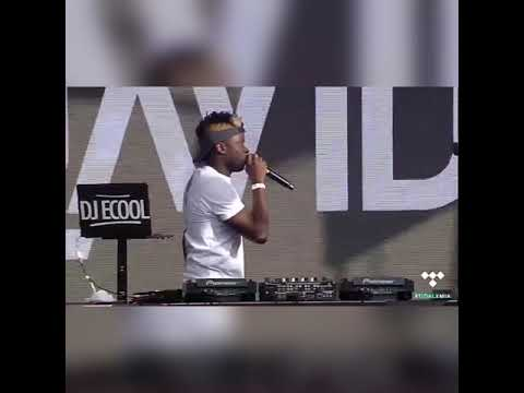 DJ Ecool and davido on a live African perform