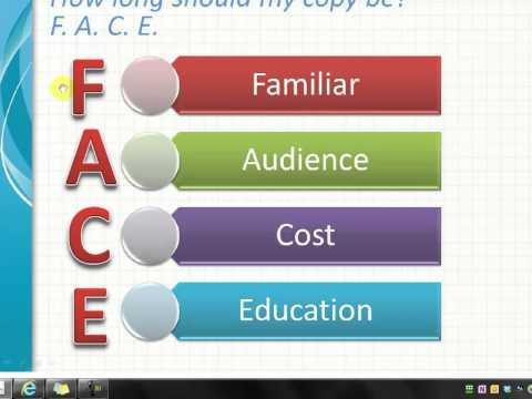 F.A.C.E. Formula for Copywriting from Karon Thackston