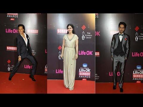 Ayushmann Khurrana , Tiger Shroff, Kajol & Other Celebs At Life Ok Screen Awards