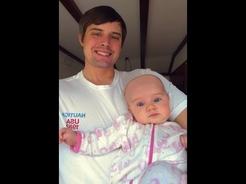 this father shaved his baby girl's head. you will laugh out loud.