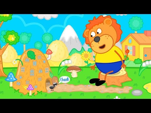 Lion Family Helped the Ant   Good Deed Cartoon for Kids