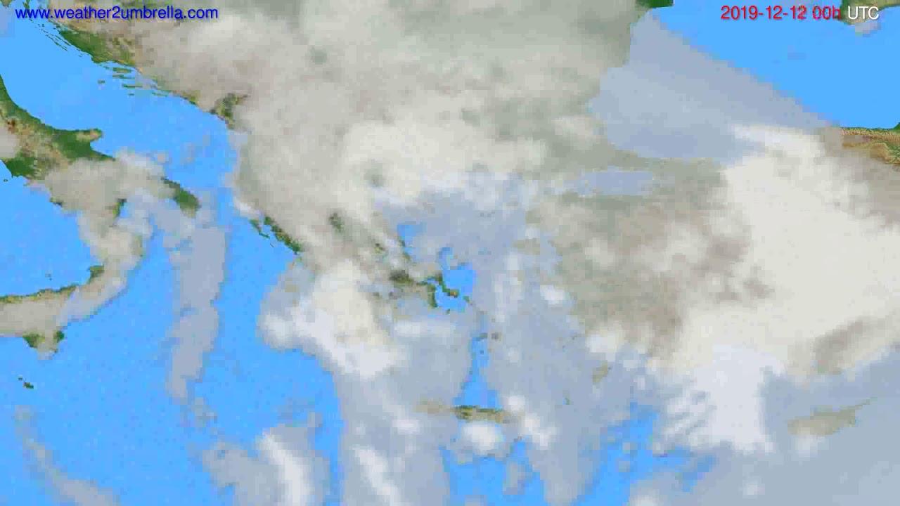 Cloud forecast Greece // modelrun: 00h UTC 2019-12-11