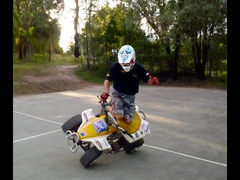 Paul Hannam trick riding LT80 Quad