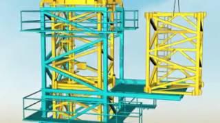 Lắp dựng cẩu tháp cho công trình