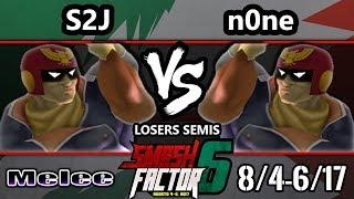 Video Smash Factor 6 SSBM - n0ne (Captain Falcon) vs. Tempo | S2J (Captain Falcon) - Smash Melee LS MP3, 3GP, MP4, WEBM, AVI, FLV Oktober 2017