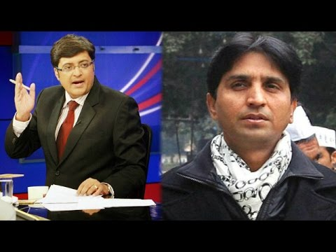 Aap - AAP leader Kumar Vishwas speaking exclusively to TIMES NOW's Editor-in-Chief Arnab Goswami slams decision by Aam Aadmi Party (AAP) to give up power in Delhi,...