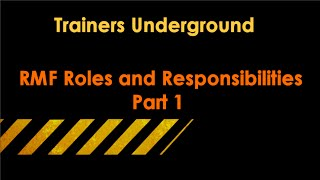 TU RMF Roles and Responsibilities (Part 1)