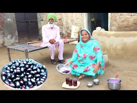 Jamun Ka Sharbat💕Jamun Juice💕 Villager Life of Punjab/India 💕 Rural life of Punjab/India