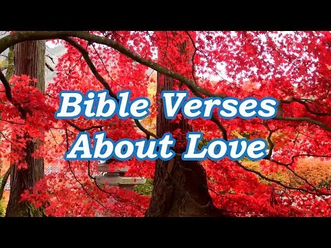Bible quotes - Bible Verses About Love w/ audio and soothing music - Best Bible Verses