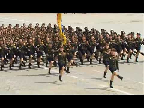 This guy synced Bee Gees to North Korean forces marching and speeds it up.