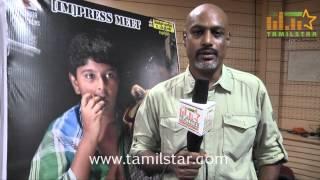 Cinematographer Sai Mageshwaran at Pulipaarvai Press Meet