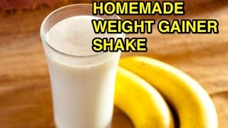 How to make a fast homemade weight gainer protein shake for muscle gain
