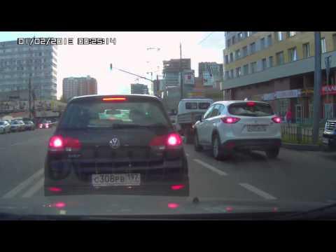 Авария с патрульной машиной в Подмосковье