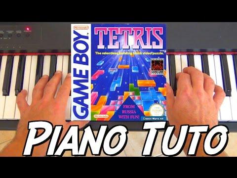 Tetris (Korobeïniki) - Tutoriel piano - Retro Gaming Music (видео)