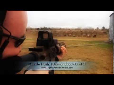 Muzzle flash: Diamondback DB-15 pistol