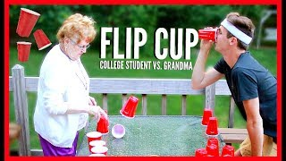 """Back from my frat again! HA HA and it's time to teach my grandma how to play flip cup! HA HA 😛JOIN THE DRONIAK FAMILY!: http://bit.ly/1UV2DvZBUSINESS INQUIRES: business@bigfra.meFOLLOW ME TO KEEP UPDATED :) -------------------------------------------------------------------twitter: https://twitter.com/KevinDroniakinstagram: https://www.instagram.com/kevindroniak/LILL's instagram: https://www.instagram.com/grandma_droniaksnapchat: kdron64I HAVE A VLOG CHANNEL TOO! BE SURE TO SUBSCRIBE :Phttps://www.youtube.com/user/waitimkevin---------------------------------------------------------------------THESE ARE MY PROMO CODES. YOUR WELCOME!FREE uber ride with my code: """"KEVIND1363""""LOVE YOU ALL SO MUCH!"""