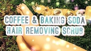 DIY Coffee and Baking Soda Hair Removing Scrub - YouTube