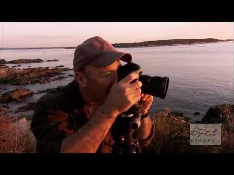 Jim Zuckerman photographs Portland Head Light at Sunrise