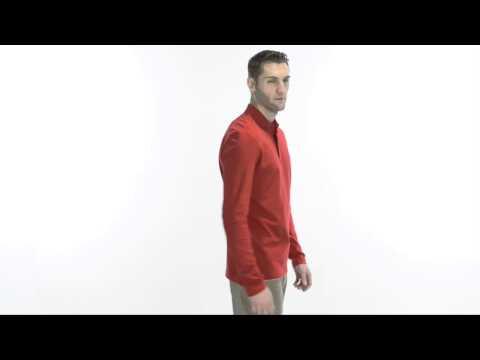 Victorinox Stretch Pima Cotton Polo Shirt - Zip Neck, Long Sleeve (For Men)