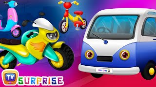 Surprise Eggs Toys - PASSENGER Vehicles for Kids | Motor Cycle, Car & more | ChuChuTV Egg Surprise