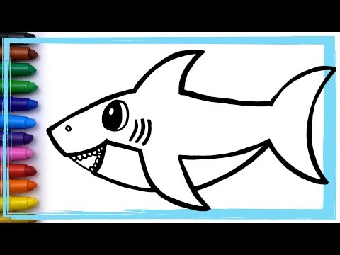 Baby Shark Song Drawing dan Coloring Pages Learn Colors | Whoopee Playhouse