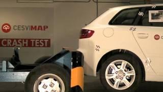 Crash test trasero Audi A3