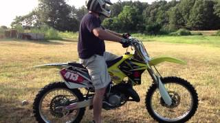 1. Twisting the throttle on my 2006 RM 125 2 stroke